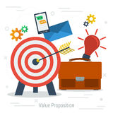 Vector value proposition concept Royalty Free Stock Photo