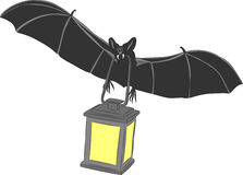 Vector vampire bat Stock Images