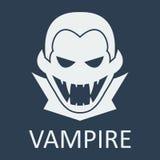 Vector vampire. Blue background.. Vector vampire on blue background Stock Images