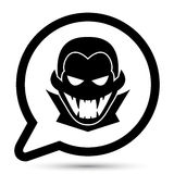 Vector vampire icon. Vector vampire icon in bubble Royalty Free Stock Images