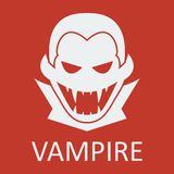 Vector vampire. Red background. Format eps 10. Vector vampire on red background. Format eps 10 Royalty Free Stock Photos