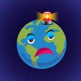 Vector van aarde met sirene, Stock Afbeelding