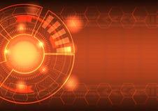 Vector van abstract achtergrondtechnologieconcept over machtsenergie en reactor royalty-vrije illustratie