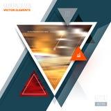 Vector van abstracte geometrische driehoekspatroon en achtergrond Royalty-vrije Stock Afbeeldingen