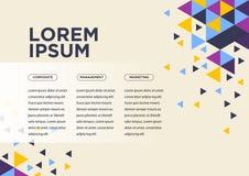 Vector van abstracte geometrische patroon en achtergrond stock illustratie
