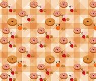 Vector van Bakkerijpatroon met Vanilleachtergrond Stock Fotografie