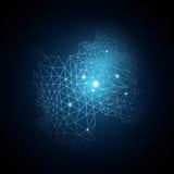 Vector van blauwe abstracte achtergrond Royalty-vrije Stock Foto's