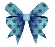 Vector van Blauwe Boog met Ster Royalty-vrije Stock Afbeeldingen