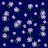 Vector van Bloemblauw op Blauwe Achtergrond Stock Foto