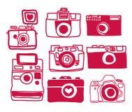 Vector van Camera Uit de vrije hand Royalty-vrije Stock Foto's