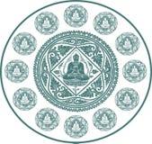 Vector van de achtergrond van Boedha Royalty-vrije Stock Afbeeldingen