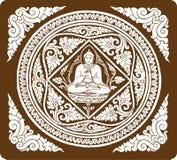 Vector van de achtergrond van Boedha Stock Afbeelding