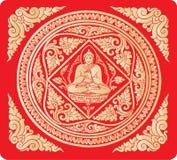 Vector van de achtergrond van Boedha Stock Foto's