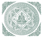Vector van de achtergrond van Boedha Stock Afbeeldingen