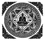 Vector van de achtergrond van Boedha Stock Fotografie