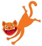 Vector van de beeldverhaal de rode kat Stock Afbeelding
