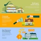 Vector van de bouw van planning Stock Foto's