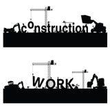 Vector van de bouwwerkzaamheid de zwarte kunst Royalty-vrije Stock Afbeeldingen