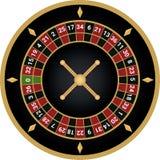 Vector van de casino de Europese roulette royalty-vrije illustratie