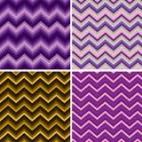 Vector van de Chevron van de Zigzag van het patroon Retro Royalty-vrije Stock Afbeeldingen