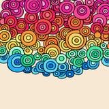 Vector van de Cirkels van de Henna van de krabbel de Abstracte stock illustratie