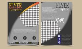 Vector van de de Brochurevlieger van het jaarverslagpamflet het malplaatjeontwerp, de lay-outontwerp van de boekdekking, Abstract Royalty-vrije Stock Fotografie