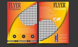 Vector van de de Brochurevlieger van het jaarverslagpamflet het malplaatjeontwerp, de lay-outontwerp van de boekdekking, Abstract Stock Afbeelding