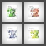 Vector van de de Brochurevlieger van het jaarverslagpamflet het malplaatjeontwerp, het ontwerp van de boekdekking Abstract hexago Stock Afbeeldingen