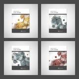 Vector van de de Brochurevlieger van het jaarverslagpamflet het malplaatjeontwerp, het ontwerp van de boekdekking Abstract hexago Royalty-vrije Stock Fotografie