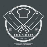 Vector van de de grafiekdruk van de chef-koks de Uitstekende T-shirt Royalty-vrije Stock Afbeelding