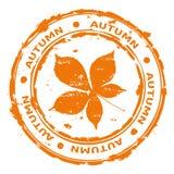Vector van de de herfst de rubberzegel Stock Foto