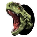 Vector van de dinosaurus de hoofdschets Royalty-vrije Stock Foto