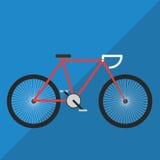 Vector van de fiets de Vlakke Kleur Royalty-vrije Stock Foto's