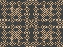 Vector van de van het achtergrond damast naadloze retro patroon van de het kader chian kam oosterse meetkundecontrole spiraalvorm royalty-vrije illustratie