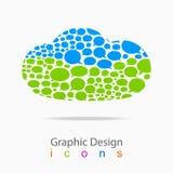 Vector van de het embleemkleur van het Wolkenbericht het pictogramzaken Stock Afbeeldingen