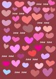 Vector van de liefdekaart illustratie als achtergrond Royalty-vrije Stock Foto's