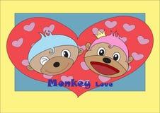 Vector van de liefdekaart illustratie als achtergrond Stock Foto's