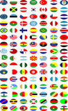 Vector van de nationale vlaggen Stock Afbeeldingen