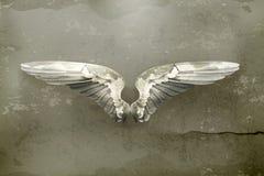 Vector van de vleugels de oude stijl Stock Foto's