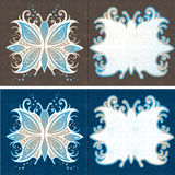 Vector van de Vlinder van de Kaarten van de groet de Abstracte Stock Afbeeldingen