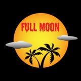 Vector van de volle maan de bloedige tekst stock foto