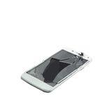 Vector van gebroken cellulaire glastelefoon royalty-vrije stock fotografie