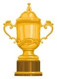 Vector van gouden trofee Stock Afbeeldingen