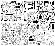 Vector van Grote vastgestelde Pijl Stock Afbeeldingen