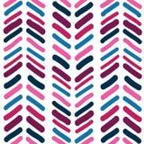 Vector van van het achtergrond chevron Naadloze patroon het patroontextuur abstracte hand getrokken penseelstreekvormen Eenvoudig royalty-vrije illustratie