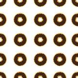 Vector van het doughnut de naadloze patroon Stock Afbeelding