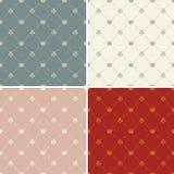 Vector van het kroon de koninklijke naadloze patroon Royalty-vrije Stock Afbeeldingen