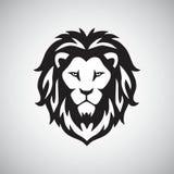 Vector van het leeuw de hoofdembleem stock illustratie