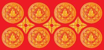 Vector van het patroon van Boedha Stock Foto's