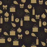 Vector van het Patroon van Kerstmis de Naadloze Stock Fotografie